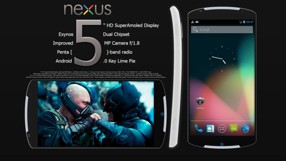 Раскрыты характеристики Google Nexus 5, нового телефона от Google