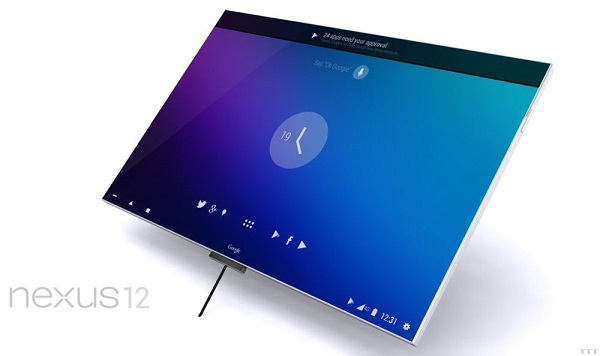 nexus 12 tablet 3d concept