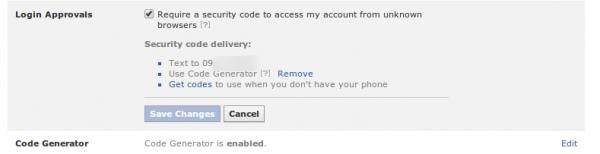 1  Security Settings