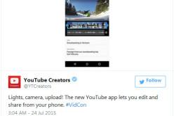 YouTube-ի թարմացված բջջային հավելվածը թույլ է տալիս տեղադրել ու խմբագրել տեսանյութն անմիջապես հեռախոսից