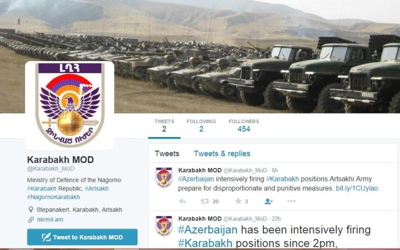 Արցախի պաշտպանության բանակը էջ է բացել Twitter-ում