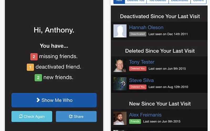 Who Deleted Me-ն կհայտնի Facebook-ից Ձեզ հեռացնող ընկերների մասին