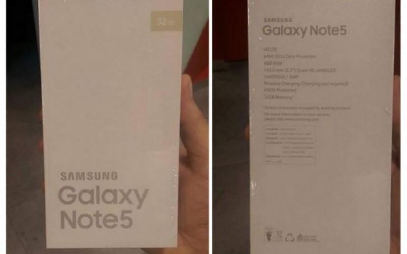 Samsung Galaxy Note 5-ը՝ տուփով և պարամետրերի բոլոր մանրամասներով