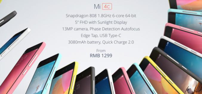 Պաշտոնապես ներկայացվել է Xiaomi Mi 4c-ը