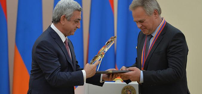 Եվգենի Կասպերսկին ստացավ ՀՀ նախագահի մրցանակը (տեսանյութ)