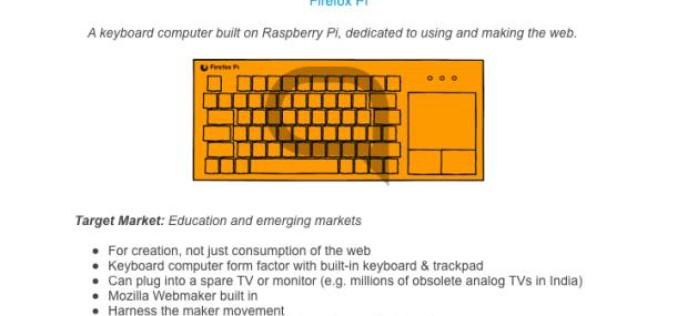 Mozilla–ն ստեղծում է պլանշետ և խելացի ստեղնաշար