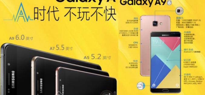 Samsung-ը պատրաստվում է ներկայացնել 6 դյույմ էկրանով Galaxy A9 սմարթֆոնը