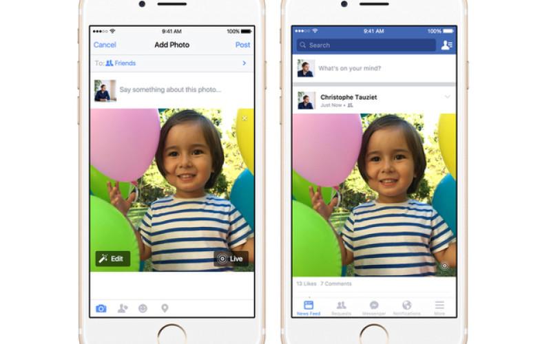 Facebook-ի iOS հավելվածի շնորհիվ այսուհետ հնարավոր կլինի աշխատել «շարժվող» նկարների հետ