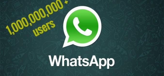 Ավելի քան մեկ միլիարդ մարդ օգտվում է WhatsApp-ից