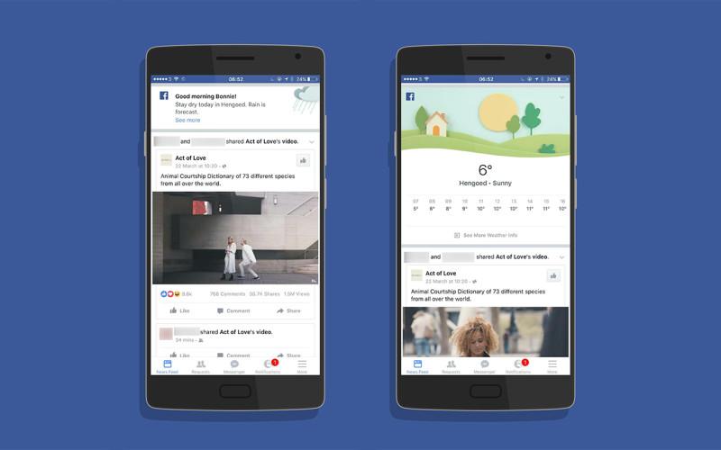 Facebook-ը փորձարկում է եղանակի հաղորդման նոր ֆունկցիան