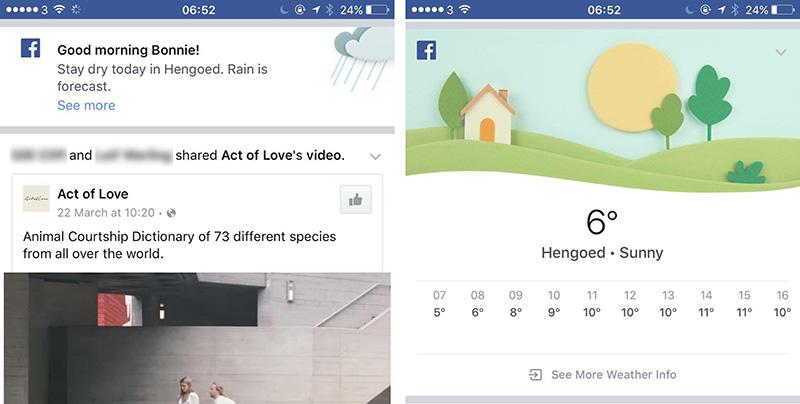 Facebook weather 2