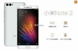 Նոր տվյալներ Xiaomi Mi Note 2 սմարթֆոնի մասին, որն ունի կոր էկրան