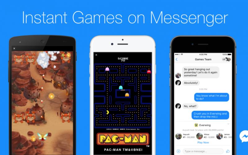 Facebook-ը Messenger-ում ներդրել է ակնթարթային խաղեր