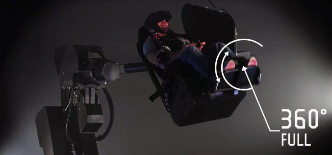 VR խաղային աթոռ, որը պտտվում է 360 աստիճանով (տեսանյութ)