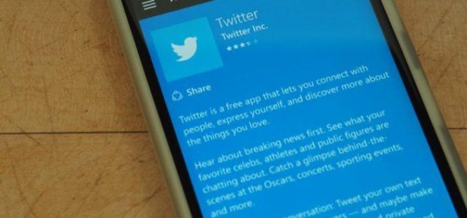 Twitter-ի հավելվածը դադարել է աշխատել Windows օպերացիոն համակարգում