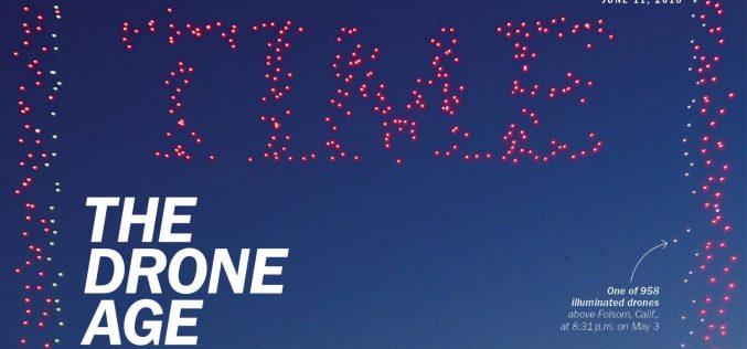 958 անօդաչու դրոն օդում պատկերել են Time պարբերականի տարբերանշանը (լուսանկար)