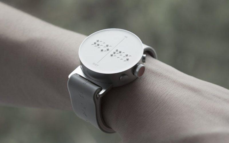 Braille smartwatch. սմարթ ժամացույց տեսողության խանգարումներ ունեցողների համար