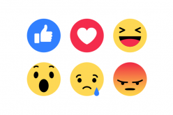2015-ի հոկտեմբերի 8-ին Facebook-ը Like-երի շարքում գործարկեց  Reactions կոճակը