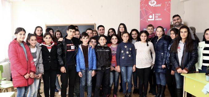 Ucom-ի տնօրենը բաց դաս անցկացրեց Կոշի «Արմաթ» լաբորատորիայի սաների և «Դասավանդի՛ր, Հայաստան» ծրագրի աշակերտների համար