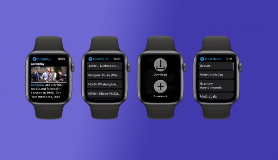 MiniWiki. ամբողջաական Wikipedia ձեր Apple Watch-ում