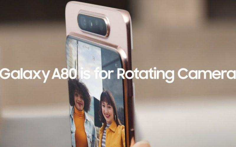 Samsung-ը ներկայացրեց Galaxy A80.-ը՝ պտտվող տեսախցիկով սմարթֆոնը