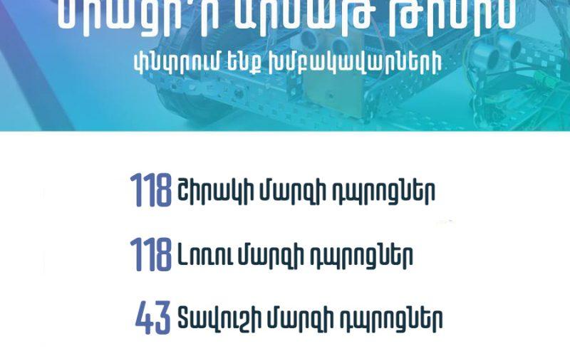 ԱՏՁՄ֊ն աշխատանքի է հրավիրում 279 Արմաթ ինժեներական լաբորատորիաների խմբակավարների