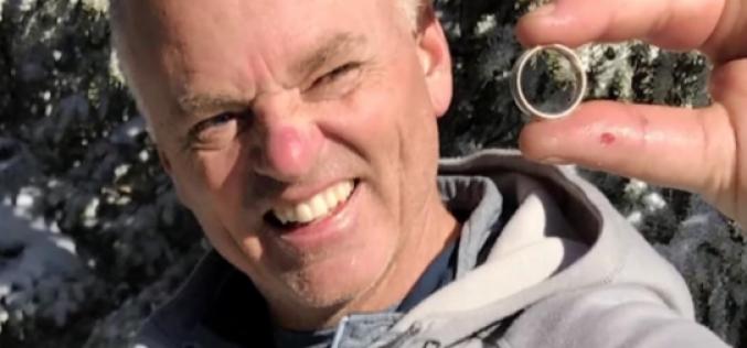 Ամերիկացին  լեռնարշավորդների օգնությամբ գտել է լեռներում կորցրած մատանին