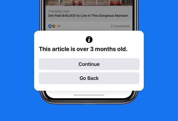 Facebook-ը պայքարում է հին նյութերի տարածման դեմ