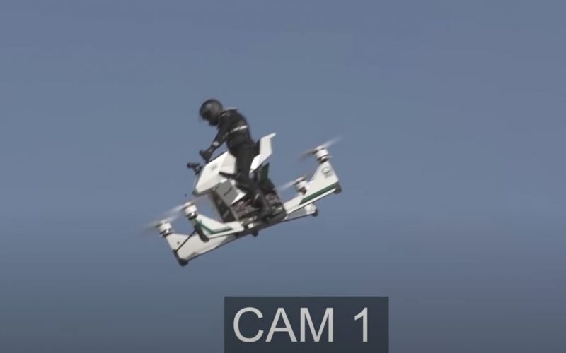 Թռչող մոտոցիկլետը վթարի է ենթարկվել փորձարկման ժամանակ (տեսանյութ)