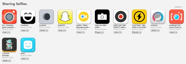 App store selfie