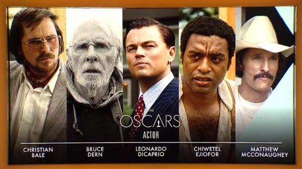 Best actor nominees