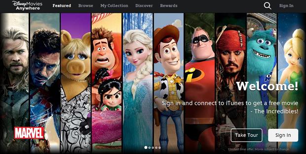 Disney iOS app