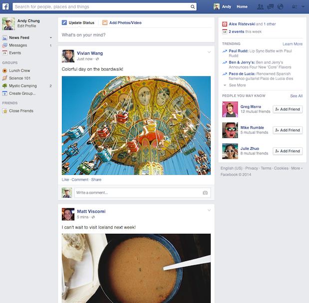 FB news feed