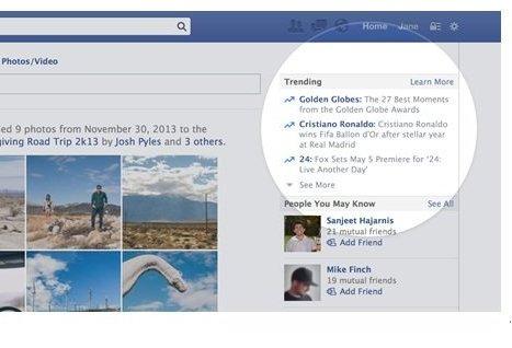 Facebook trendinhg