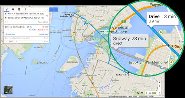 Google maps new interface4