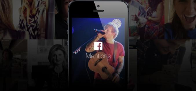Facebook-ը թողարկել է Mentions հավելվածը հայտնիների համար