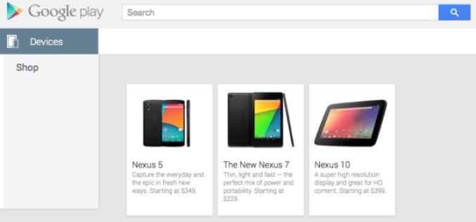Nexus 5-ը հայտնվել է Google Play-ում