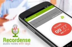 Recordense` նշումների հնարավորությամբ ձայնագրիչ (վիդեո)