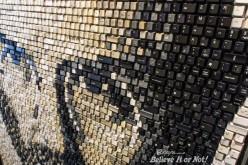 Սթիվ Ջոբսի դիմանկարը ստեղնաշարի կոճակներից (ֆոտո)