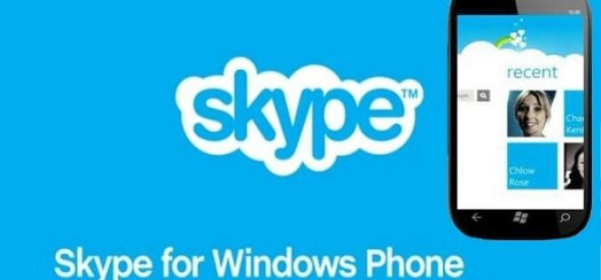 Թողարկել է Skype ծրագրի Windows Phone նոր թարմացում