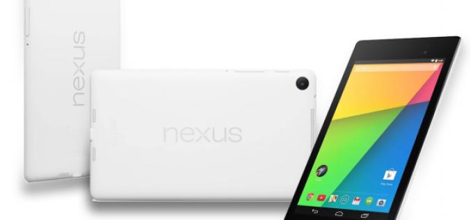 Թողարկվել է սպիտակ Nexus 7