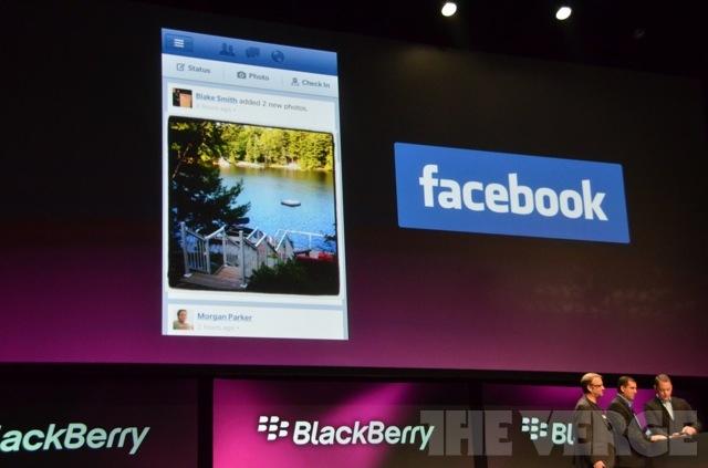 blackberry & facebook