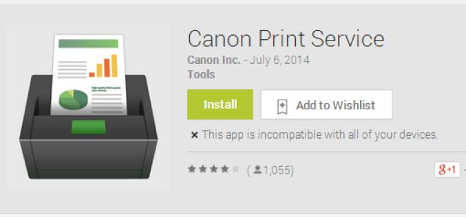 Canon-ը ներկայացրել է բջջային տպագրության Android-հավելված