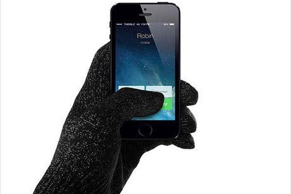 holding phone