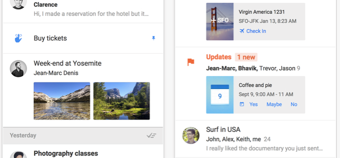 Google-ը ներկայացրել է Inbox «խելացի» էլ.փոստը (վիդեո)