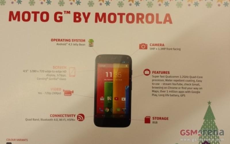 Հայտնի են դարձել Moto G-ի տեխնիկական պարամետրերը