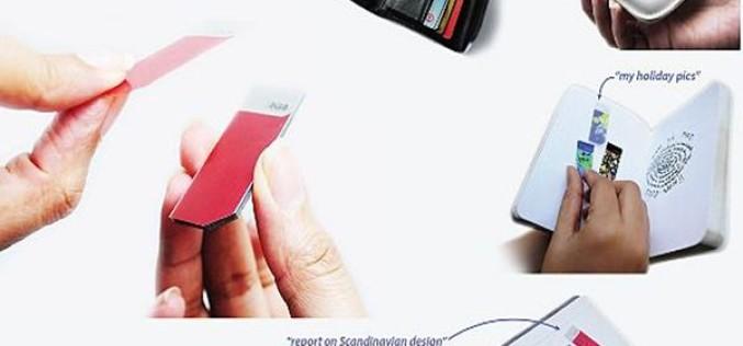 Կոնցեպտ. ստիքերներ՝ USB-կրիչի փոխարեն